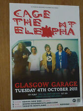 Cage The Elephant - Glasgow oct.2011 tour concert gig poster