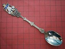 SB588*) Vintage enamel Holland Cheese maker Milkmaid Souvenir Collectors spoon