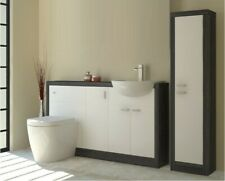1500mm Driftwood cloakroom vanity sink unit with toilet tap and storage cupboard