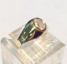 Brand New 14kt Solid Gold Oval Stone Ladies Ring - Free Shipping!