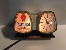 Vintage Anheuser Busch Natural Light Beer Cash Register Lighted Sign/Clock