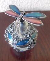 Flacon de collection Libellule, flacon de parfum rechargeable verre pierre email