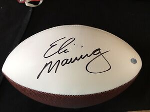 Eli Manning New York Giants Signed Autographed  Football.. Steiner