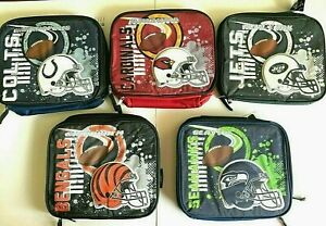 NFL Adult / Kids Insulated 3D Raised Graphic Lunch Box Bag School Bag Cooler