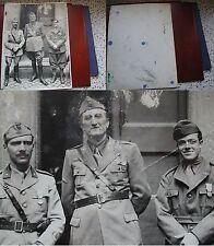 FOTO ORIGINALE DECORATI AL VALOR MILITARE WWII BERSAGLIERI UFFICIALI TRUPPA