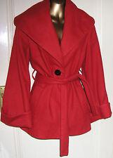 Burnt Orange 83 % Wool  3/4 Length Coat by Topshop  UK 10 CLOSING DOWN SALE