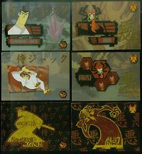 "SAMURAI JACK (Artbox/2002) Complete ""FOIL"" Chase Card Set GENNDY TARTAKOVSKY"