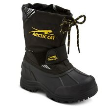 Arctic Cat Child Boys Snowshower Winter Boots, Black, US Size 13 EUR Size 31