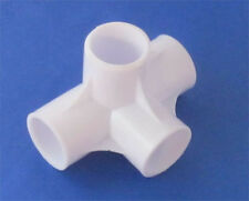 4x 4-Way Joint Pipe Fittings 20mm, Build Own Greenhouse