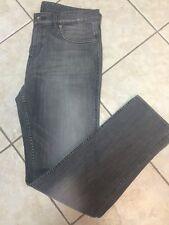 Hugo Boss Men's Delaware Slim Fit Medium Wash Grey Stretch Jeans 36x34 NWT $165