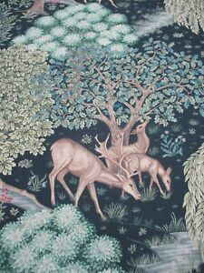 William Morris Curtain/Upholstery Fabric 'THE BROOK' 1.4 METRES TAPESTRY LINEN