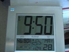 "La Crosse Technol. White Whether Station, Clock, Humidity, Temp. Wall  11.75x12"""