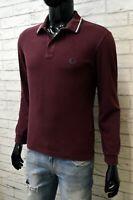 Polo Uomo Fred Perry Taglia 42 107 Cm Maglia Camicia Manica Lunga Shirt Man