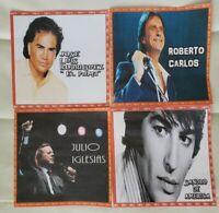 4 DISCOS. 4 LEYENDAS DE LA BALADA ROMANTICA. FORMATO MP3 con 365 canciones