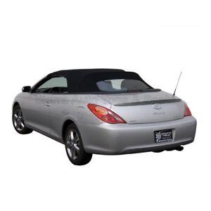 Toyota Solara 2004-09 Convertible Soft Top w/Glass Window, Stayfast Cloth, Black