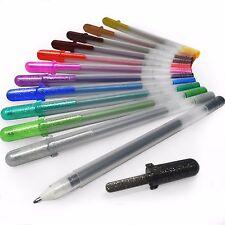 Sakura Gelly Roll Metallic Shiny Gel Pens – Wallet of 12 Assorted Colours SA 291