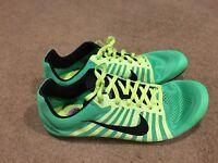 Nike Zoom D Distance Running Spikes Mens 10.5 Green/volt Black 819164-303 Rare!!