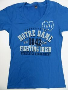 Property of Notre Dame Est 1842 Fighting Irish Blue T-Shirt Women's Size M