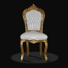Sessel Barock Stuhl bordeaux rot gold antik repro Kamin lounge luxus design modern