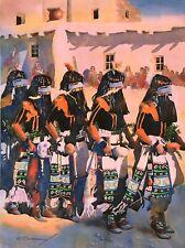 """Long Haired Kachina"" BARRY SAPP Art Print Native American Indian Hopi ?"