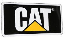Caterpillar CAT Equipment Black & Yellow Aluminum Novelty License Plate Tag