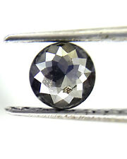 0.43TCW 4.5 MM Round Rose cut Jet Black AAA Color African Natural Loose Diamond