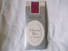 Vintage Christian Dior 15 denier plain knit Tights, one size , colour Carmine