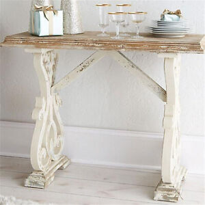 """48"""" Baxter Console Table Distressed Farmhouse Shabby Chic"""