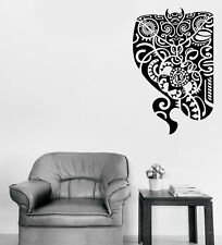 Vinyl Decal Wall Sticker Maori Design Mask Tattoo Style Decor (n1294)