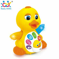 Musical Funny Duck Toy With Falpping Wings Eyes Lips And light Learning Toy 2019