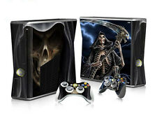 Xbox 360 slim skin Design volets Autocollant Film de protection set-Grim reaper motif
