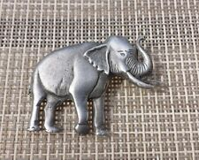 1 AFRICA ZOO ANIMALS ELEPHANT PEWTER PIN ALL NEW