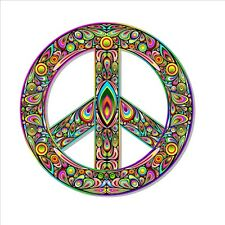 colourful peace symbol sign vinyl sticker 90 mm colorful rainbow car stickers