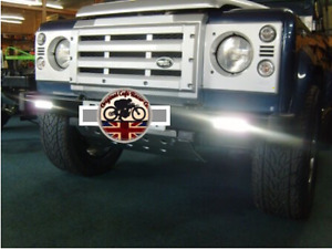 DRL x 2 LED Daytime Running Light to Fit in or under Bumper 4x4 Off Road 618
