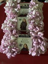 "New, Unused Lot Of 3 Loops & Threads ""Loops Boucles"" Yarn - Rose'"