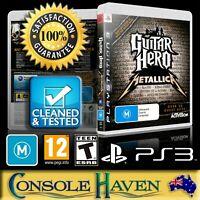(PS3 Game) Guitar Hero: Metallica (M) (Music & Dance) Guaranteed, Cleaned