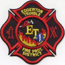 EDGERTON TRIMBLE Fire Protection District MISSOURI MO FIRE PATCH