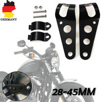 Universal Motorrad Scheinwerfer Halter 28mm-45mm Halterung Lampenhalter Schwarz