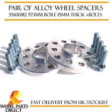 Wheel Spacers 15mm (2) Spacer Kit 5x100 57.1 +Bolts for Audi TT Mk1 [8N] 98-06