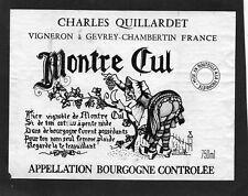 BOURGOGNE ETIQUETTE + COLL VIGNOBLE DE MONTRE CUL 1982 DECOREE M BUFFO§08/11/17§