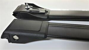 For Saab 9-5 Wagon 1999-2010 Lockable Aerodynamic Cross Bars Roof Rack BLACK