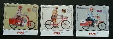 Postman's Uniform Malaysia 2012 Vehicle Bicycle Motorcycle (stamp with logo) MNH