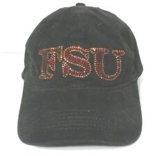 Womens Baseball Cap Black FSU Adjustable  NCAA College Football Hat