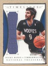Ricky Rubio 13 2013-14 National Treasures Timelines Material Jersey 99/99
