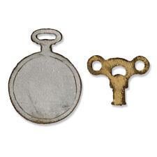 Sizzix Movers & Shapers Mini Clock Key & Pocket Watch Tim Holtz 658561