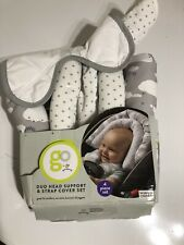 GO by Goldbug Clouds Duo Car Seat Head Support and Strap Set New (other)