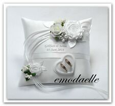 (30 color)Personalized wedding ring cushion  pillow with rings holder box