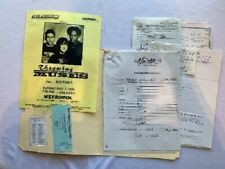 Throwing Muses Concert Contract 1995 Pittsburgh