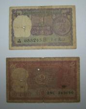 INDE - INDIA - BILLETS - 1 RUPEE + 2 RUPEES