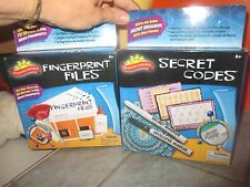 2 Sealed SPY SCIENCE Kits SECRET CODS & FINGERPRINT Files SCIENTIFIC EXPLORER